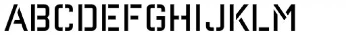 Reload Alt Stencil Light Font UPPERCASE