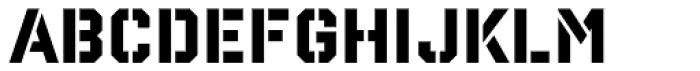 Reload Stencil Medium Font UPPERCASE