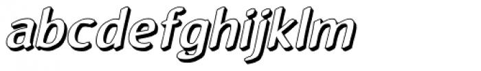 Reluxed 3 D Oblique Font LOWERCASE