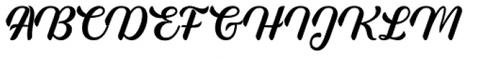 Rembulan Regular Font UPPERCASE