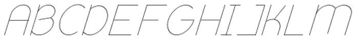 Remedia ExtraLight Italic Font UPPERCASE