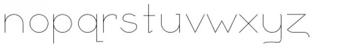 Remedia ExtraLight Font LOWERCASE