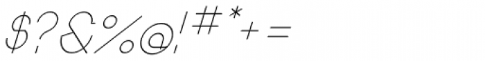 Remedia Light Italic Font OTHER CHARS