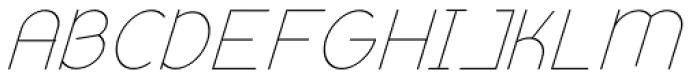 Remedia Light Italic Font UPPERCASE