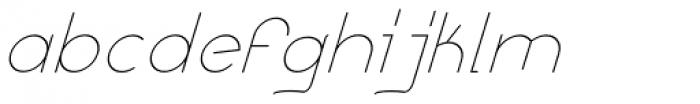 Remedia Light Italic Font LOWERCASE