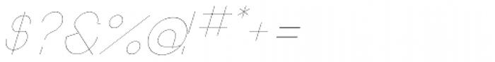 Remedia UltraLight Italic Font OTHER CHARS