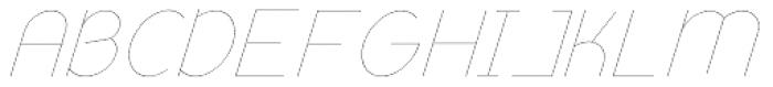 Remedia UltraLight Italic Font UPPERCASE