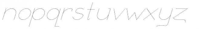 Remedia UltraLight Italic Font LOWERCASE