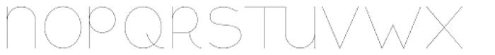 Remedia UltraLight Font UPPERCASE