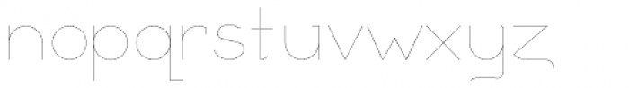 Remedia UltraLight Font LOWERCASE
