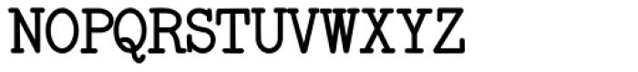 Remington Elite Typewriter Bold Font UPPERCASE