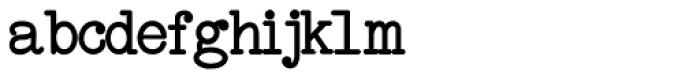 Remington Elite Typewriter Bold Font LOWERCASE