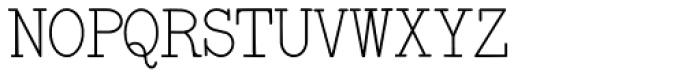 Remington Elite Typewriter Font UPPERCASE