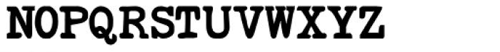 Remix Typewriter Bold Font UPPERCASE