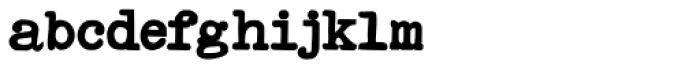 Remix Typewriter Bold Font LOWERCASE