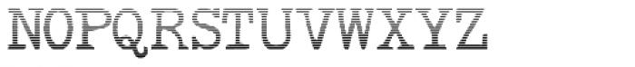 Remix Typewriter Gradient Font UPPERCASE
