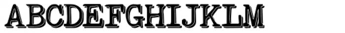 Remix Typewriter Shadow Font UPPERCASE