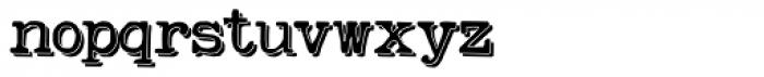 Remix Typewriter Shadow Font LOWERCASE