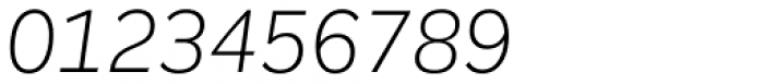 Remora Corp W2 Light Italic Font OTHER CHARS