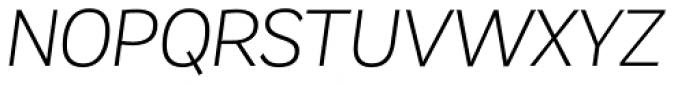 Remora Corp W2 Light Italic Font UPPERCASE