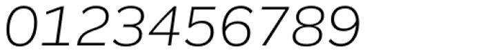 Remora Corp W3 Light Italic Font OTHER CHARS