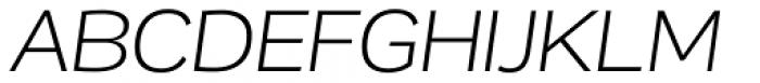 Remora Corp W3 Light Italic Font UPPERCASE