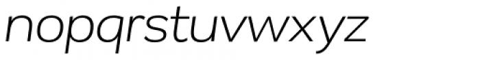 Remora Corp W3 Light Italic Font LOWERCASE