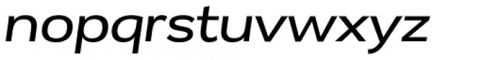 Remora Corp W4 Medium Italic Font LOWERCASE