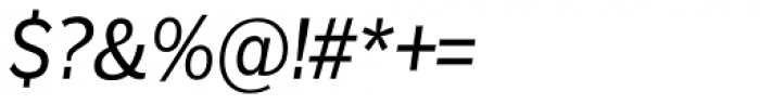 Remora Sans W2 Medium Italic Font OTHER CHARS