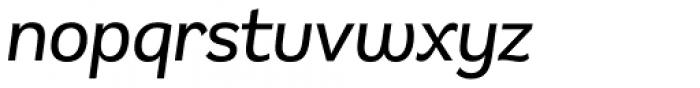 Remora Sans W2 Medium Italic Font LOWERCASE