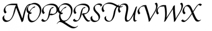 Rendezvous Font UPPERCASE