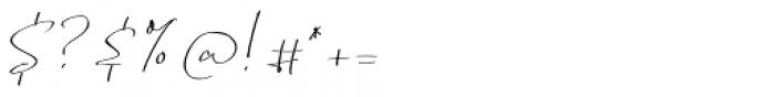 Renitta Regular Font OTHER CHARS