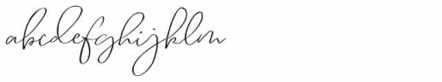 Renitta Regular Font LOWERCASE