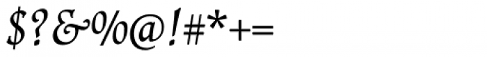 Renner Antiqua Pro Italic Font OTHER CHARS