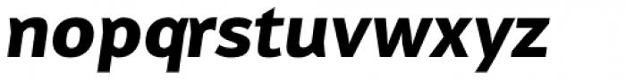 Reon Sans ExtraBold Italic Font LOWERCASE