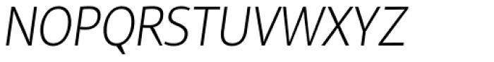Reon Sans Light Italic Font UPPERCASE