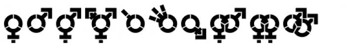Represent Stencil Bold Font LOWERCASE
