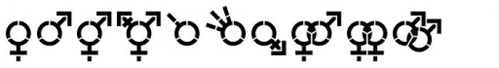 Represent Stencil Medium Font LOWERCASE