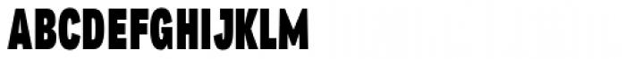Republica 4F Comp Black Font UPPERCASE