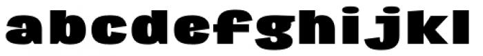 Republica 4F Extra Wide Black Font LOWERCASE
