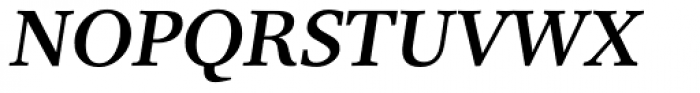 Res Publica SemiBold Italic Font UPPERCASE
