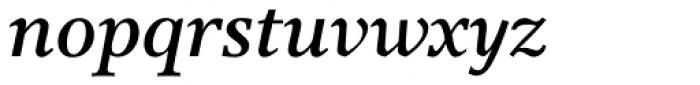 Res Publica SemiBold Italic Font LOWERCASE
