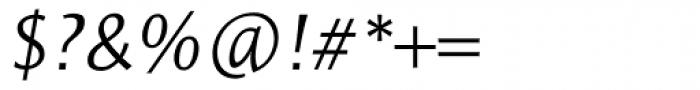 Resavska Sans Light Italic Font OTHER CHARS