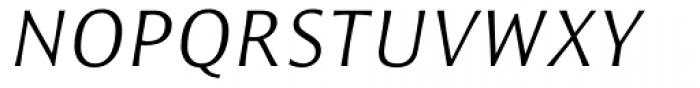 Resavska Sans Light Italic Font UPPERCASE