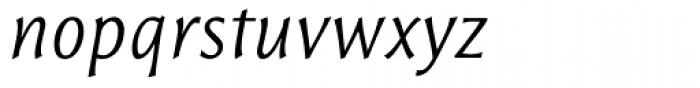 Resavska Sans Light Italic Font LOWERCASE