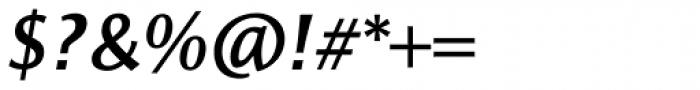 Resavska Sans Medium Bold Italic Font OTHER CHARS