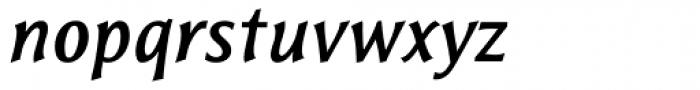 Resavska Sans Medium Bold Italic Font LOWERCASE