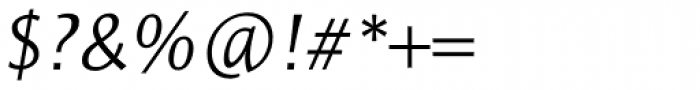 Resavska Sans Std Light Italic Font OTHER CHARS
