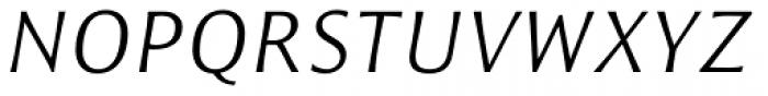 Resavska Sans Std Light Italic Font UPPERCASE