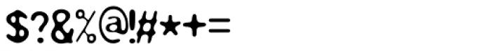 Resbaloso Regular Font OTHER CHARS